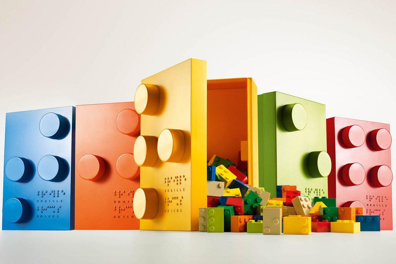 klocki LEGO, niewidomy, słabowidzący, nauka czytania, alfabet braille'a