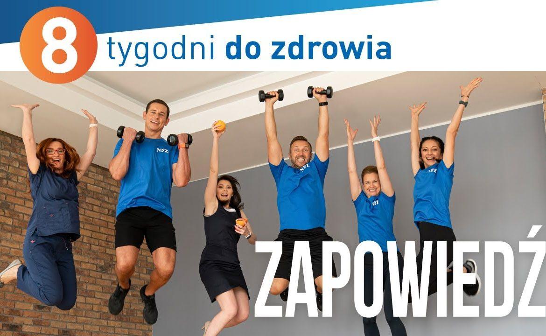 Akademia NFZ, 8 tygodni do zdrowia, bezpieczne ćwiczenia w domu, fizjoterapia ćwiczenia, trening w domu