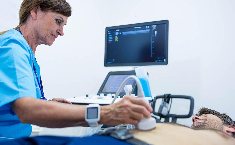 pacjent, usg, ultrasonograficzne badanie, usg jamy brzusznej, usg dróg moczowych